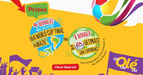 Mcdonalds Instant Win Prizes - mcdonald s canada instant win contest win instant prizes or a trip to the fifa