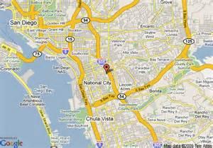 national city california map map of econo lodge national city national city