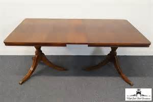 Duncan Phyfe Dining Table Dimensions Vintage Duncan Phyfe Mahogany 70 Pedestal Dining