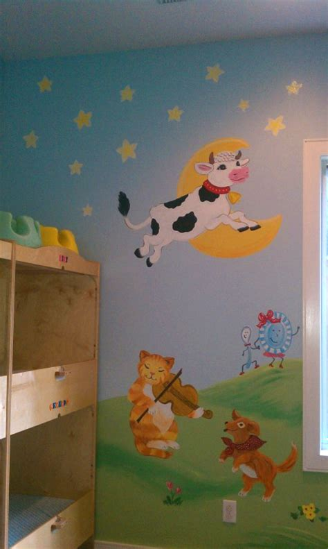 What Are Wall Murals nursery rhymes murals by wendy s walls custom murals cow