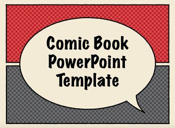 free comic book presentation templates for keynote or