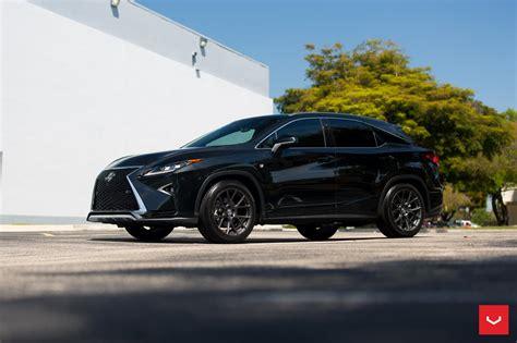 lexus rx black custom wheels help this lexus rx transition to the dark