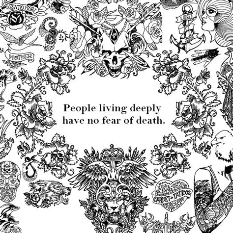 Adult Coloring Page Zen Quotes People Living Deeply Have