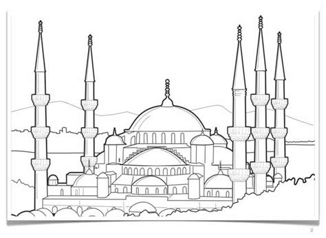 hagia sophia istanbul turkey coloring page coloring 2 download a free hagia sophia colouring pages picolour