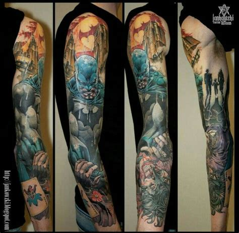 batman tattoo sleeve best 25 batman sleeve ideas on comic
