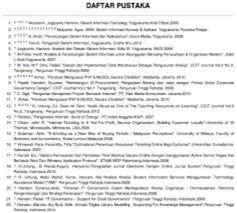 format penulisan daftar pustaka skripsi contoh daftar pustaka dan bagaimana penulisannya