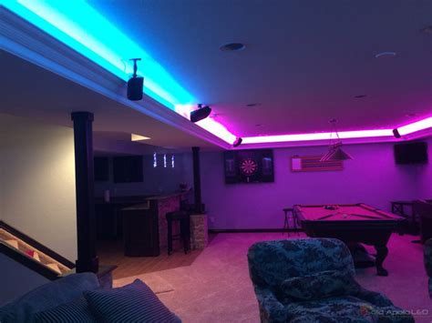 Man Cave Game Room LED Lighting Contemporary Family Room Seattle by Solid Apollo LED