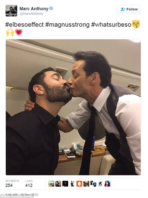 Marc Kisses Makes Up by Marc Anthony Tries To Prove Smooch At