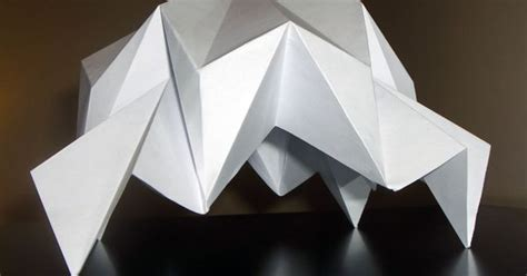 Three Dimensional Origami - 3 dimensional origami folded structures by tewfik tewfik