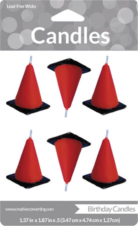 candle construction construction construction cones candle set parties4kids