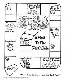 Race North Pole Board Game Santa Activity Sheet Honkingdonkey