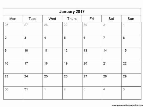 Free 2017 Monthly Calendar Powerpoint Template Powerpoint Calendar Template 2017