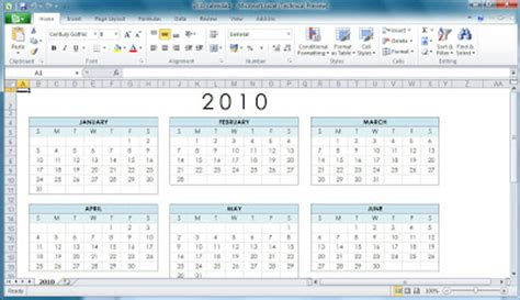 Office 2010 Office 2010 Calendar Templates Microsoft Word 2010 Calendar Template