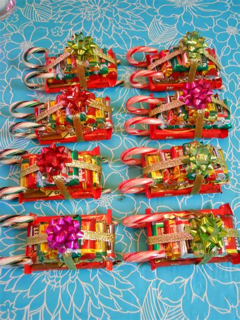candy cane skeigh xmas craft ellyn s place sleighs