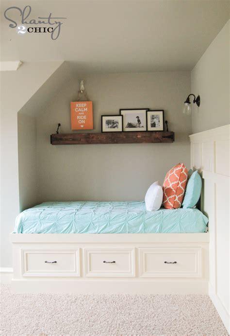 diy built  storage bed shanty  chic