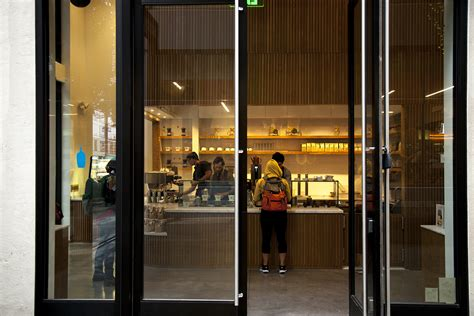 Glass Door For Shop At Blue Bottle S Brand New Adjacent San Francisco Coffee Bar