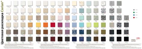 Corian Colors Pricing Palette Of Decors Corian