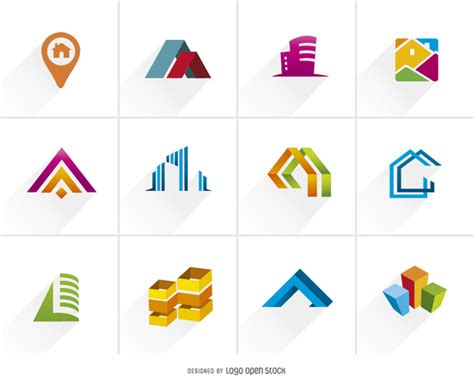 free logo design icons real estate logo icon pack free vector logo template