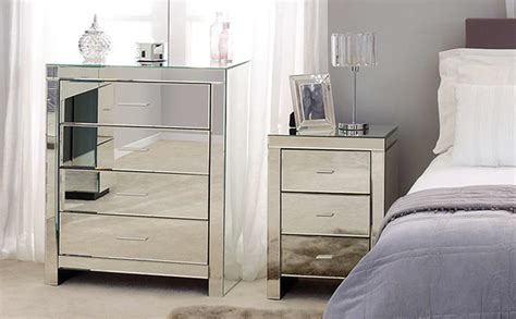 Mirrored Bedroom Set Furniture Dunlem Venetian Mirrored Bedroom Furniture Bedroom Furniture