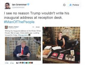 Daily Mail News Desk Contact by Mocked For Photo Of Him Writing Inaugural Speech