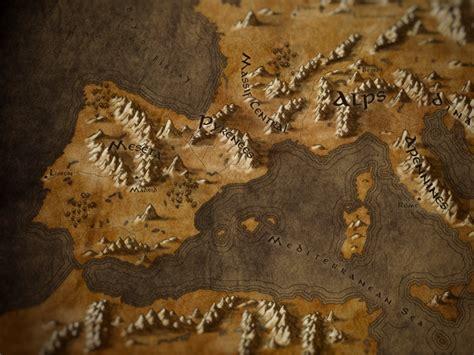 callum ogden map  europe   fantasy tolkien style