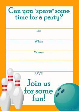free bowling birthday invitation card template bowling birthday invitations template best