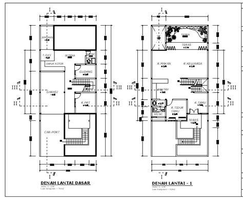 denah dan desain rumah minimalis terbaru 2016 contoh