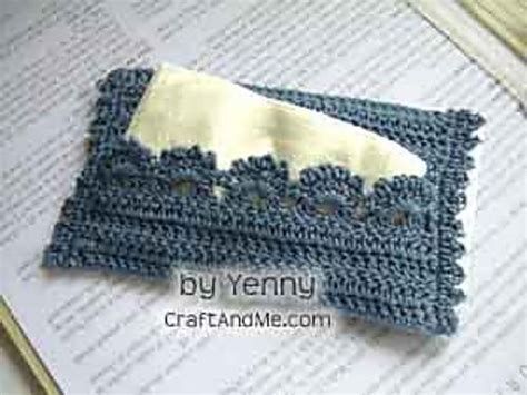 tissue holder pattern free crocheted travel tissue cover another quick but