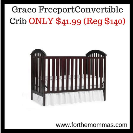 graco freeport 3 in 1 convertible crib only 41 99 reg
