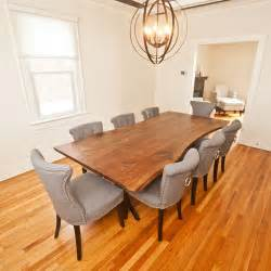 Live Edge Dining Room Table Live Edge Walnut Dining Table 171 Na Coille Studio Beautifully Handcrafted Furniture Using