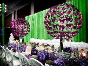 Medallion Chandelier Butterfly Wedding Reception Table Centerpieces By Jose