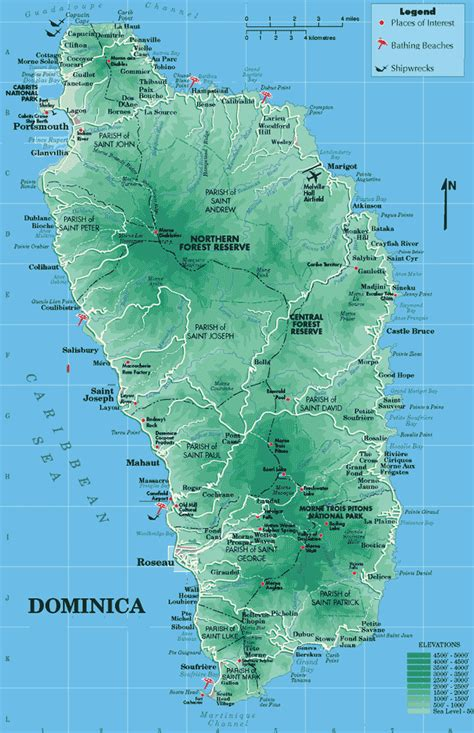 dominica on world map dominica map map all maps of the world