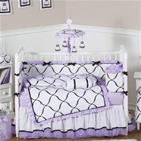 Baby Girl Crib Bedding Purple And Black Crib Bedding