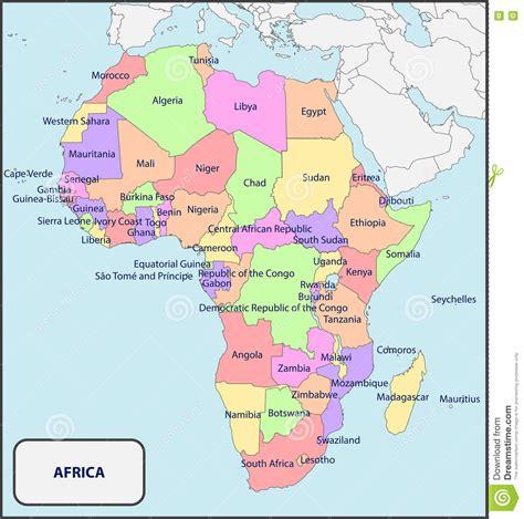 asia y africa mapa politico mapa pol 237 tico de 193 frica con nombres imagen de archivo