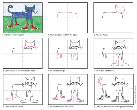 pet the draw pete the cat projects for