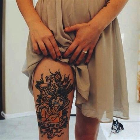 thighs tattoos 40 secret thigh tattoos that nobody will see