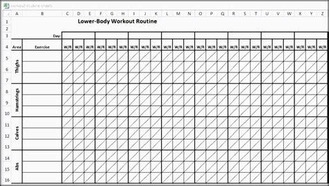 fitness plan template 6 printable fitness plan template sletemplatess