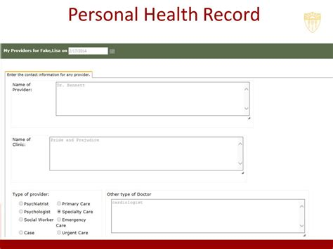 Personal Records Search What Is A Personal Health Record Phr Facts About News