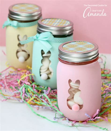 Home Decor Store Online easter bunny mason jars an adorable and easy easter craft