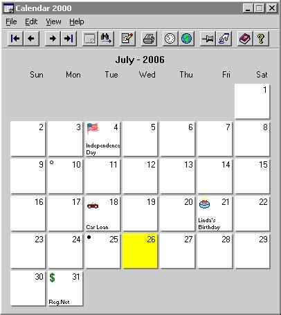 Calendar 2000 4 6 Download Tul Calendar Template