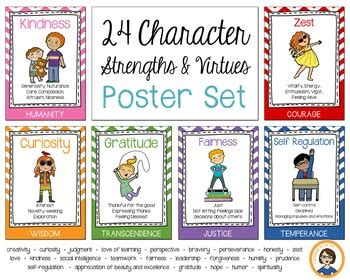character strength posters  fantabulous    tpt