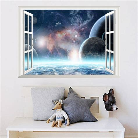 3d Wall Sticker 15968269 3d Effect Galaxy Wall Sticker Outer Space Planet Stickers