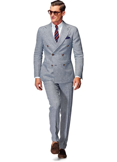 Light Suit by Suit Light Blue Houndstooth Soho P3837 Suitsupply