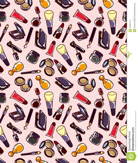 makeup pattern vector makeup seamless pattern vector illustration