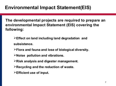 environmental statement template environmental impact assessment