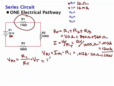 voltage drop across resistor in series calculating voltage drop across resistors