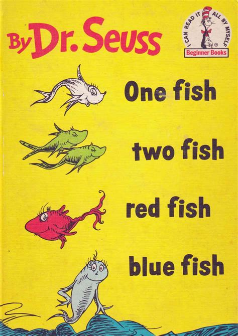 dr seuss books pictures one fish two fish fish blue fish