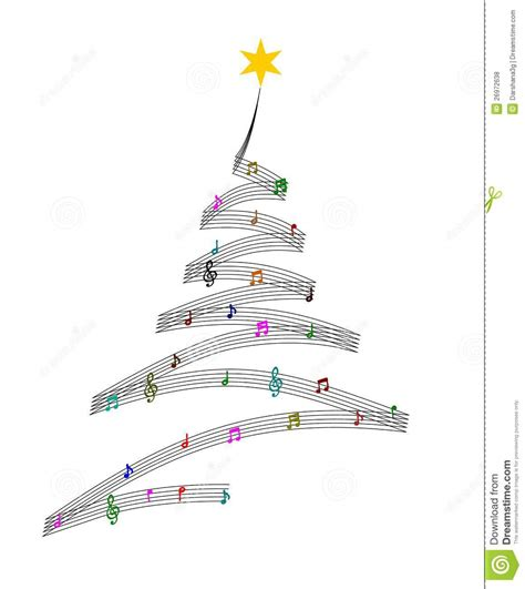 music christmas tree stock illustration illustration of