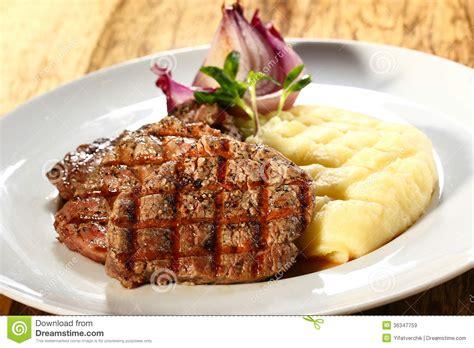 Hotplate Steak Potatoes steak and mashed potatoes stock image image of dish 36347759