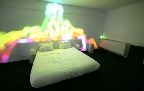 awesome bedroom decor with colorful lights